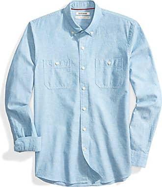 Goodthreads Standard-Fit Long-Sleeve Polka DOT Chambray Shirt Uomo
