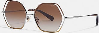 Coach Wire Frame Hexagon Sunglasses - Size ONE
