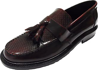 Ikon Mens Selecta Tassle Loafers (10 UK, Oxblood Punched)