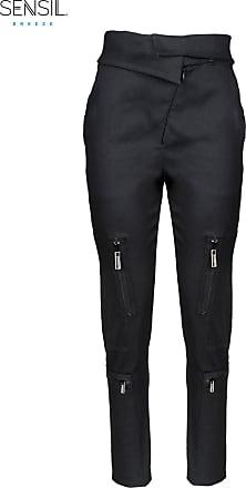 BALLETTO Calca ziper bolsos preto nero - Mulher - M (BR)