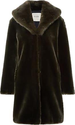 Fuzz Not Fur Dark Knight Faux Fur Coat - Dark green