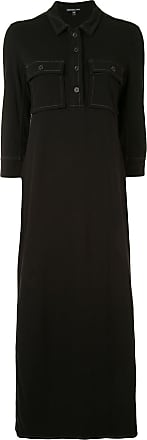 James Perse Fresca 70s polo maxi dress - Black