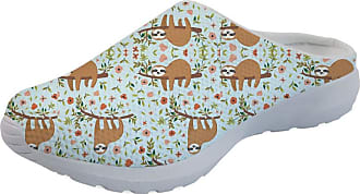 Coloranimal Funny Floral Sloth Slip on Sandals Air Cushion Lightweight Backless Flats Gym Sports Road Walking Casual DailyShoes