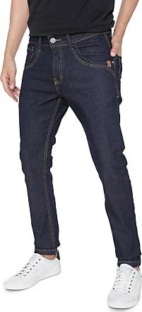 Zune Jeans Calça Jeans Zune Skinny Pespontos Azul-marinho