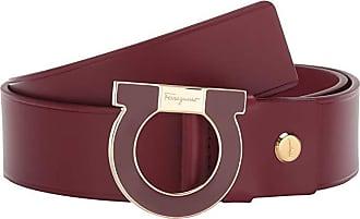 Salvatore Ferragamo Adjustable Belt - 67A064 (Ferragamo Red) Mens Belts