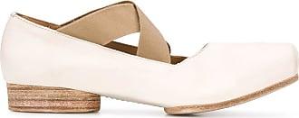 Uma Wang square toe ballerina shoes - White
