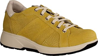 Xsensible Toulouse Mais Lizzard (Yellow) - Lace-Up Shoes - Womens Shoes Comfortable Lace-Up Shoes, Yellow, Leather Yellow Size: 8.5 UK