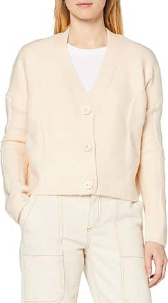 Miss Selfridge Womens Cable Button Cardi Cardigan Sweater, Cream, M