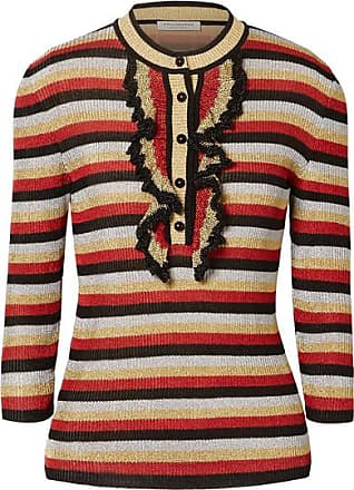 Philosophy di Lorenzo Serafini Ruffled Striped Lurex Sweater - Red