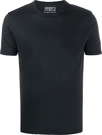 Fedeli Camiseta lisa decote careca - Preto