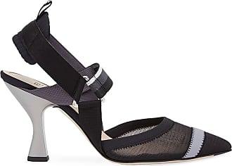 Fendi Sapato Colibri com tira posterior - Preto