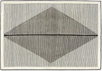MADE.COM Camden Teppich (140 x 200 cm), Schwarz und Cremeweiss