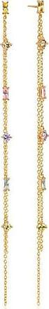 Sif Jakobs Jewellery Ohrringe Princess double chain - 18K vergoldet mit bunten Zirkonia