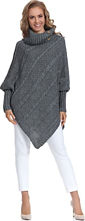 Merry Style Womens Poncho Carla(Graphite, One Size)