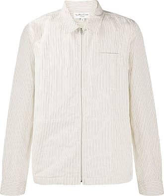 Ymc You Must Create Camisa risca de giz com zíper frontal - Neutro