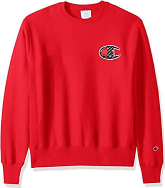 Champion LIFE Mens Reverse Weave Sweatshirt, Team red Scarlet/Sublimated c Logo, XX-Large