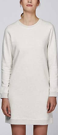 Made in Bio Robe Sweat coton bio manches longues col rond blanc gris chiné XL - Washoe