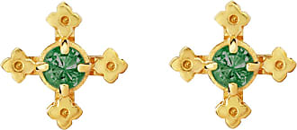 Zoe & Morgan Izil Studs Chrome Diopside Gold - one size | gold plated sterling silver | gold | Green Field - Gold/Gold
