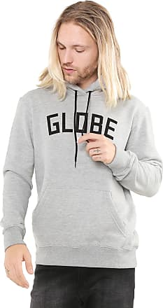 Globe Moletom Flanelado Fechado Globe Básico Cinza