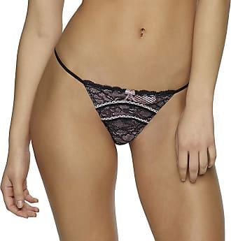 690c59a727 Jezebel Jezebel Sylvia Lace-with-Contrast-Trim G-String Thong Panties