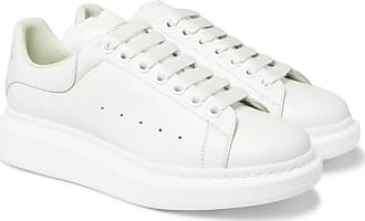 Alexander McQueen Exaggerated-sole Leather Sneakers - White
