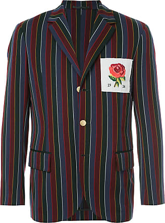 Kent & Curwen striped rose patch blazer - Multicolour