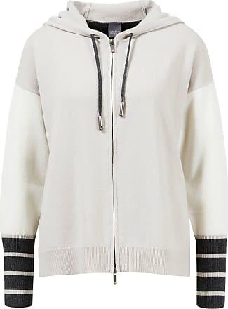 Lorena Antoniazzi Woll-Sweatshirt mit Kapuze Grau