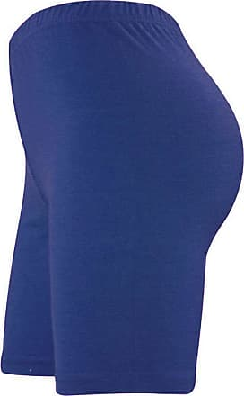 ZEE FASHION Womens Cycling & Dancing Ladies Cycle Cotton Lycra Shorts Active Size UK 8-22 Navy
