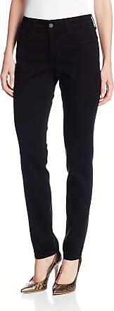 NYDJ Womens Petite Alina Legging Fit Skinny Jeans, Black, 18