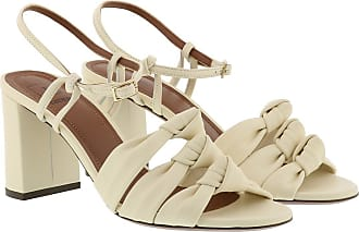 L'autre Chose Sandals - Nappa Heel Milk - white - Sandals for ladies