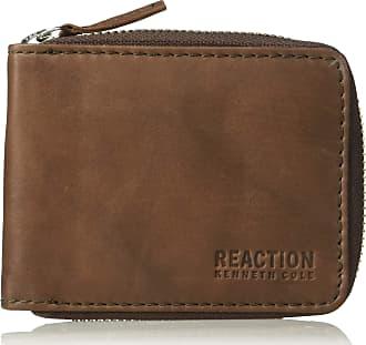 Kenneth Cole Reaction Kenneth Cole REACTION Mens RFID Blocking Bifold Zip Around Wallet with Coin Pocket Bi-Fold, Brown, One Size
