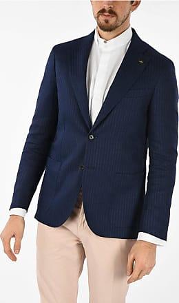 Corneliani CC COLLECTION blazer REWARD awning striped in lino drop 7 r taglia 50