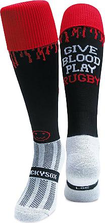 Wackysox Wackysox Give Blood Play Socks - Black/Red - size Young Adult Shoe Size 2-6
