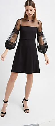 French Connection Paulette Jersey Puff Sleeve Dress