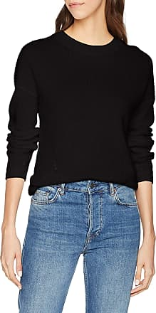 Noisy May Womens Nmsian L/s O-Neck Knit Noos Jumper, Black, 10 (Size: Small)