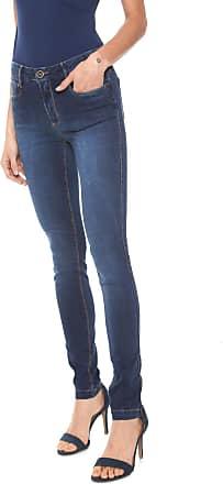 Enna Calça Jeans Enna Skinny Estonada Azul-marinho