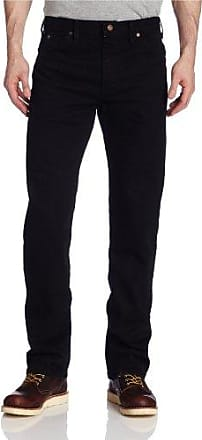 Dickies Mens Regular Straight Fit 6 Pocket Jean, Rinsed Overdyed Black, 44x32