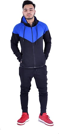 mymixtrendz Mens Boys Contrast Tracksuit Trainingsuit Schoolsuit Hoodie /& Bottom Jogging Suit