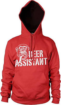 Gas Monkey Garage Officially Licensed Beer Assistant Hoodie (Red), X-Large
