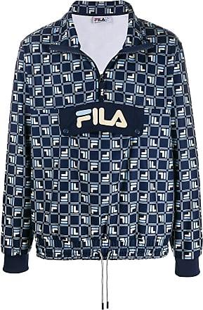 Fila Pullover mit Logo-Print - Blau