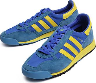adidas Originals SL 80, Glory Blue-Yellow-Tactile Steel, 4,5