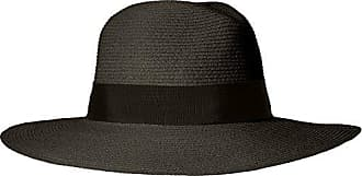 ále by Alessandra Womens Terranea Toyo Fedora With Ribbon Trim and Rated UPF 50+, Black, One Size