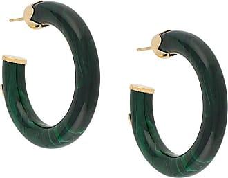 Gas Bijoux Caftan hoop earrings - Verde