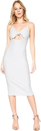 Colcci Vestido Colcci Midi Recorte Branco