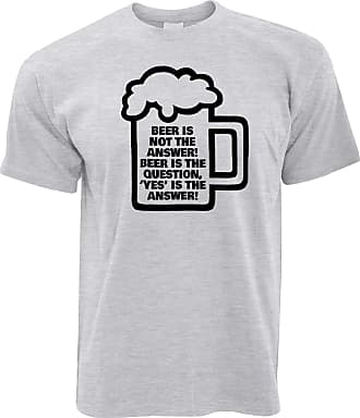 Tim And Ted Novelty T Shirt Beer is Not The Answer, Yes is Grey XXXX-Large