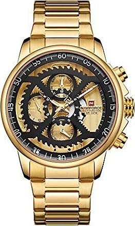 NAVIFORCE Novo NAVIFORCE Marca De Luxo Relógios Homens Esporte de Quartzo de Aço