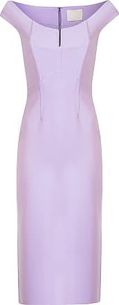 Dion Lee off the shoulder midi dress - PURPLE