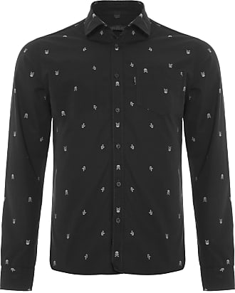 John John CAMISA MASCULINA WILLIAM - PRETO