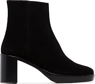 by FAR Ellen 70mm block heel ankle boots - Black