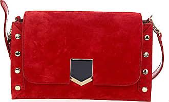 Jimmy Choo London Shoulder bag LOCKETT SHOULDER BAG suede red